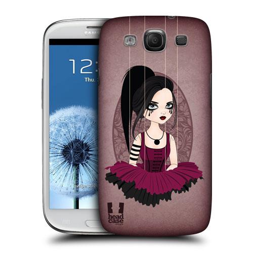 HEAD CASE obal na mobil Samsung Galaxy i9300 S3 pevný plast fialová barva malá čarodějka