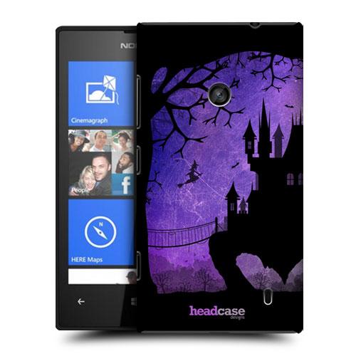 HEAD CASE obal na mobil Nokia Lumia 520 pohádková silueta temný hrad