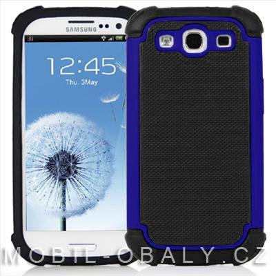 Pouzdro Shockproof na mobil Samsung Galaxy S3 / S3 NEO modrá outdoor