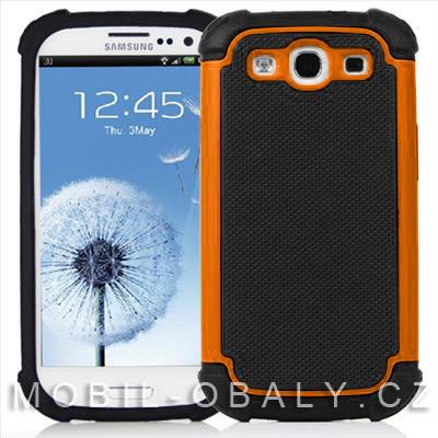 Pouzdro Shockproof na mobil Samsung Galaxy S3 / S3 NEO oranžová outdoor