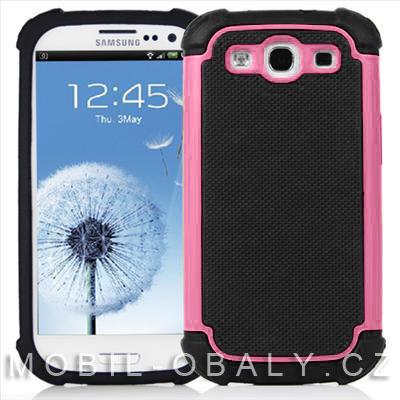 Pouzdro Shockproof na mobil Samsung Galaxy S3 / S3 NEO růžová outdoor
