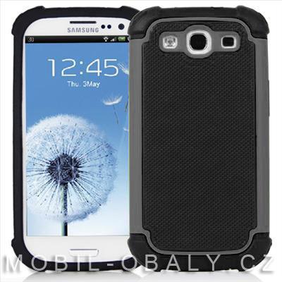 Pouzdro Shockproof na mobil Samsung Galaxy S3 šedá outdoor