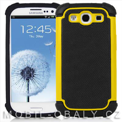 Pouzdro shockproof na mobil Samsung Galaxy S3 / S3 NEO žlutá outdoor