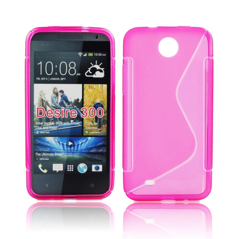 Pouzdro na mobil HTC Desire 300 růžový silikon