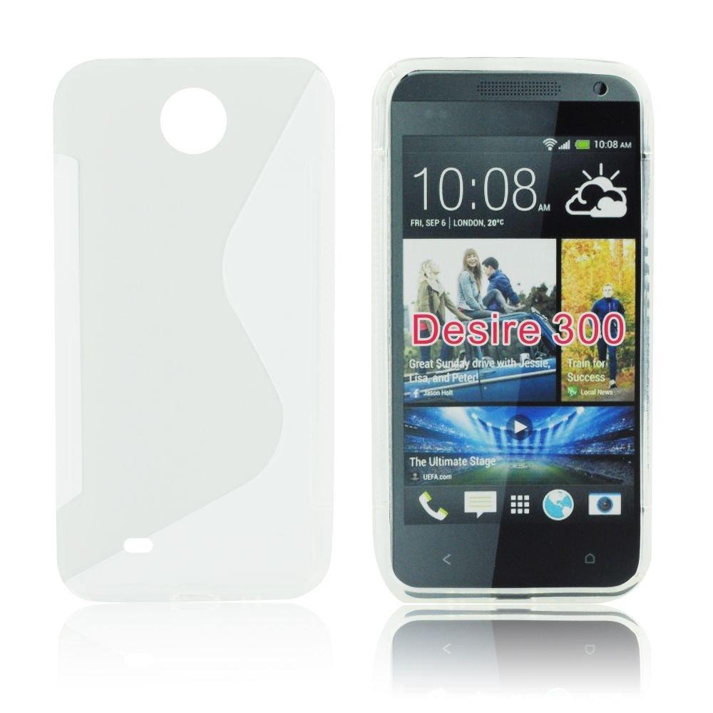 Pouzdro na mobil HTC Desire 300 čistý silikon