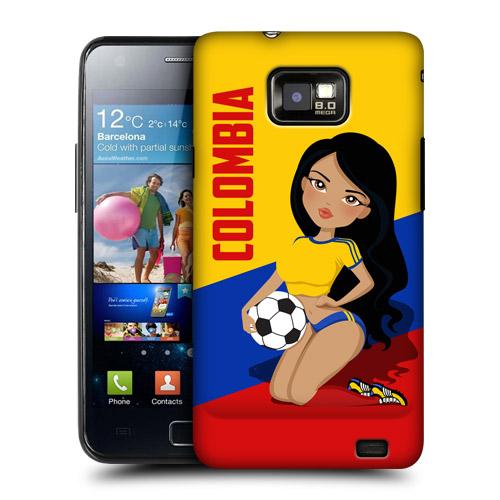 HEAD CASE obal na mobil Samsung Galaxy i9100 S2 mistrovství světa fotbal fanynka