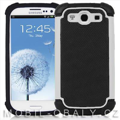 Pouzdro Shockproof na mobil Samsung Galaxy S3 / S3 NEO bílá outdoor