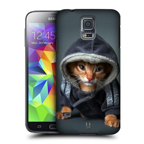 HEAD CASE obal na mobil Samsung Galaxy S5 vzor srandovní zvířátka kočička s mikinou
