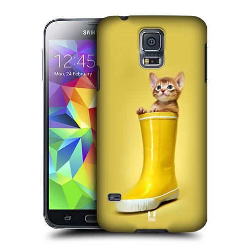 HEAD CASE obal na mobil Samsung Galaxy S5 vzor srandovní zvířátka kočička v botě