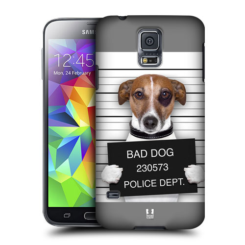 HEAD CASE obal na mobil Samsung Galaxy S5 vzor srandovní zvířátka pejsek ve vazbě