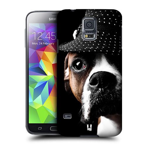 HEAD CASE obal na mobil Samsung Galaxy S5 vzor srandovní zvířátka pejsek drsňák s klouboukem