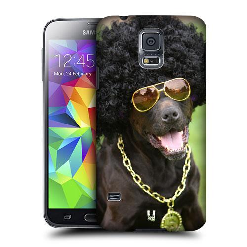 HEAD CASE obal na mobil Samsung Galaxy S5 vzor srandovní zvířátka pejsek disko pejske