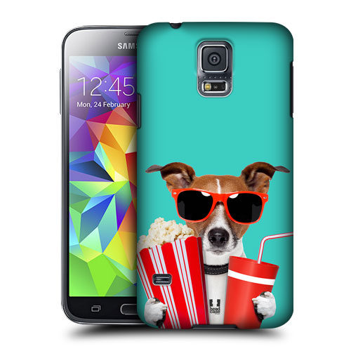 HEAD CASE obal na mobil Samsung Galaxy S5 vzor srandovní zvířátka pejsek v kině
