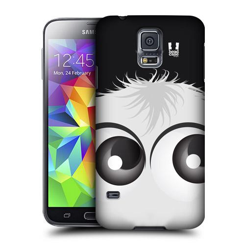 HEAD CASE obal na mobil Samsung Galaxy S5 vzor černobílý smajlík