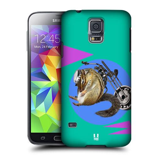 HEAD CASE obal na mobil Samsung Galaxy S5 vzor srandovní zvířátka veverka motorkář