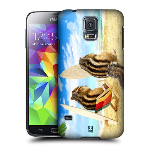 HEAD CASE obal na mobil Samsung Galaxy S5 vzor srandovní zvířátka veverka surfaři pláž moře