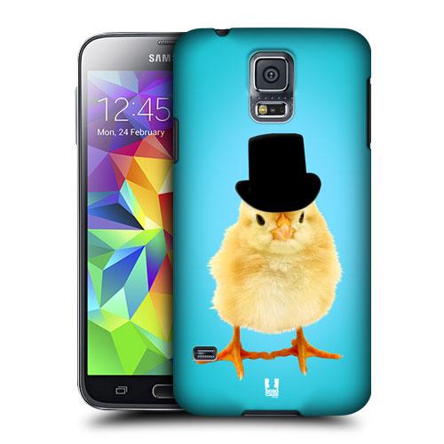 HEAD CASE obal na mobil Samsung Galaxy S5 vzor srandovní zvířátka pán Kuřátko