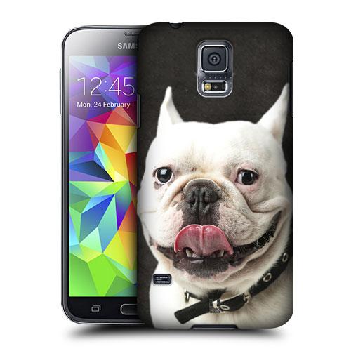 HEAD CASE obal na mobil Samsung Galaxy S5 vzor srandovní zvířátka pejsek rošťák buldok