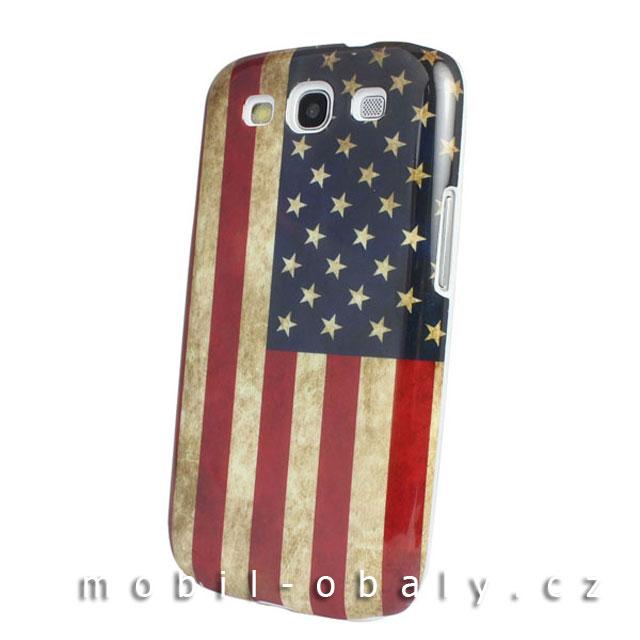 Obal Faceplate na mobil Samsung Galaxy S3 / S3 NEO pevný plast USA