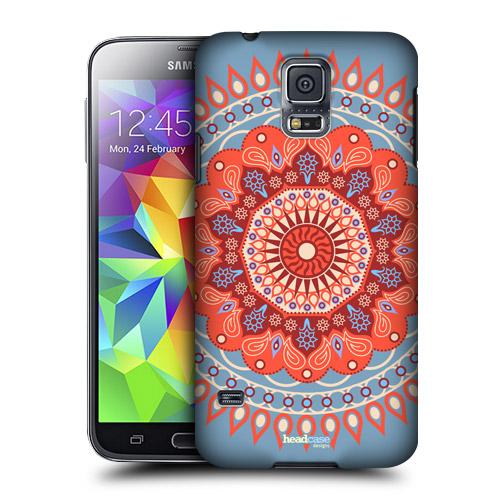 HEAD CASE obal na mobil Samsung Galaxy S5 vzor Mandala Indie barevný vzor