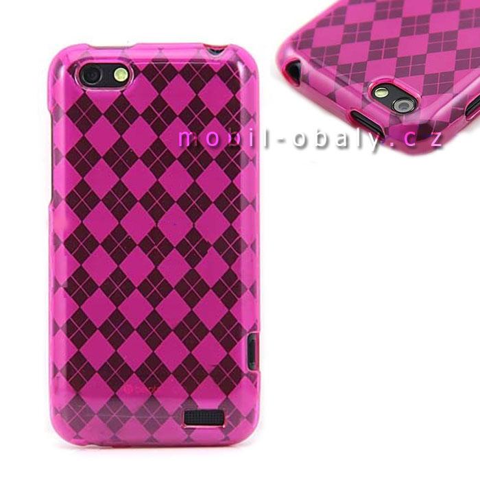 Pouzdro SES na mobil HTC One V silikonový obal růžový pink