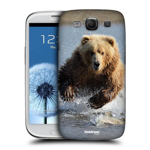 HEAD CASE pouzdro na mobil Samsung galaxy S3 příroda zvířata velký hnědý medvěd grizzly