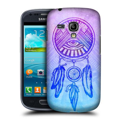 HEAD CASE pouzdro na mobil Samsung galaxy S3 mini lapač snů magické oko modrá a fialová