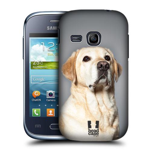 HEAD CASE pouzdro na mobil SAMSUNG GALAXY YOUNG S6310 Zvířátka Pejsci Labrador světlý foto
