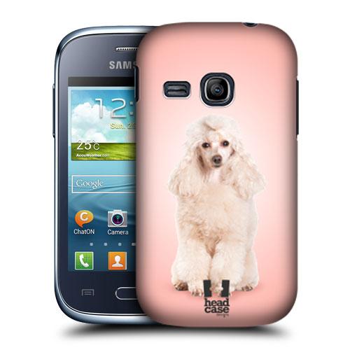 HEAD CASE pouzdro na mobil SAMSUNG GALAXY YOUNG S6310 Zvířátka Pejsci růžový pudl