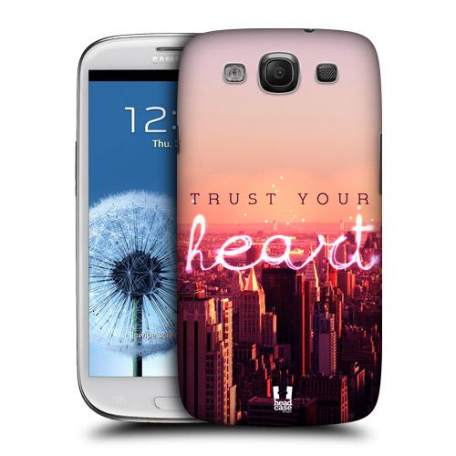 HEAD CASE obal na mobil Galaxy S3 i9300 barevné město růžová mrakodrapy