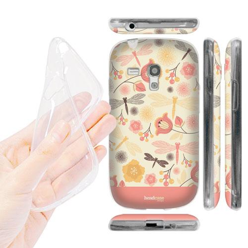 HEAD CASE silikonové Pouzdro na mobil Samsung galaxy S3 MINI vzor příroda vážka růžová