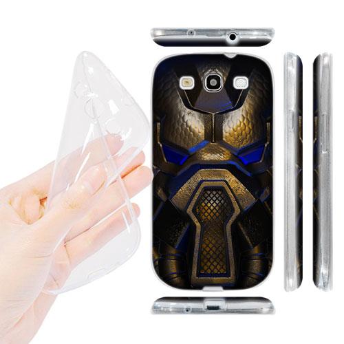 HEAD CASE silikonový Obal na mobil Galaxy S3 i9300 vesmírný válečník modrá barva