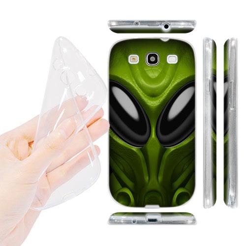 HEAD CASE silikonový Obal na mobil Galaxy S3 i9300 vesmírný válečník zelená barva