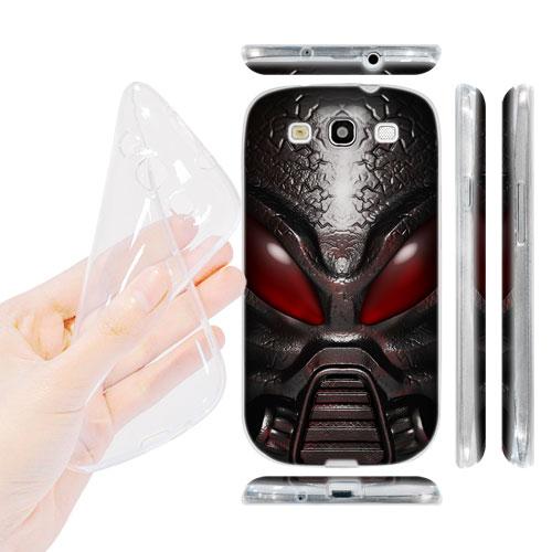 HEAD CASE silikonový Obal na mobil Galaxy S3 i9300 vesmírný válečník červená barva