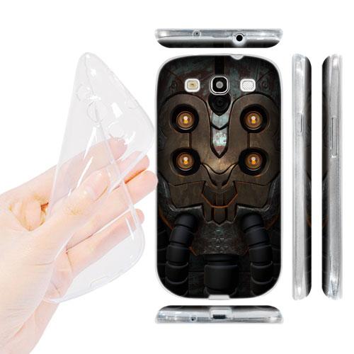 HEAD CASE silikonový Obal na mobil Galaxy S3 i9300 vesmírný válečník zlaté oči