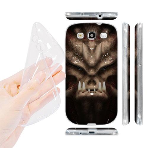 HEAD CASE silikonový Obal na mobil Galaxy S3 i9300 vesmírný válečník béžová barva vetřelec