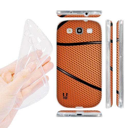 HEAD CASE silikonový obal na mobil Galaxy S3 i9300 basketball oranžová barva košíková