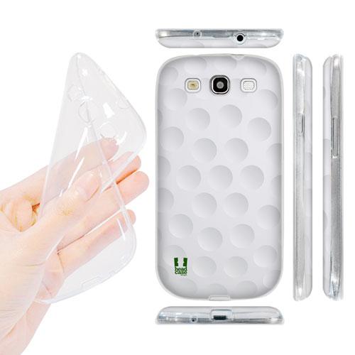 HEAD CASE silikonový obal na mobil Galaxy S3 i9300 golfový míček bílá barva