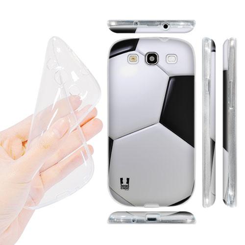 HEAD CASE silikonový obal na mobil Galaxy S3 i9300 fotbalový míč černá a bílá barva