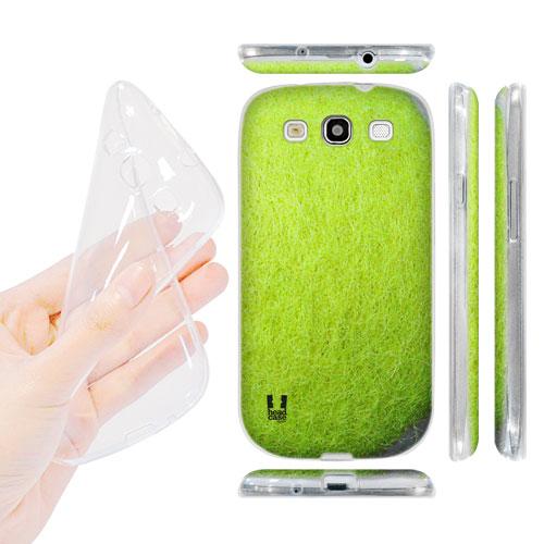 HEAD CASE silikonový obal na mobil Galaxy S3 i9300 tenisový míček zelená žlutá barva
