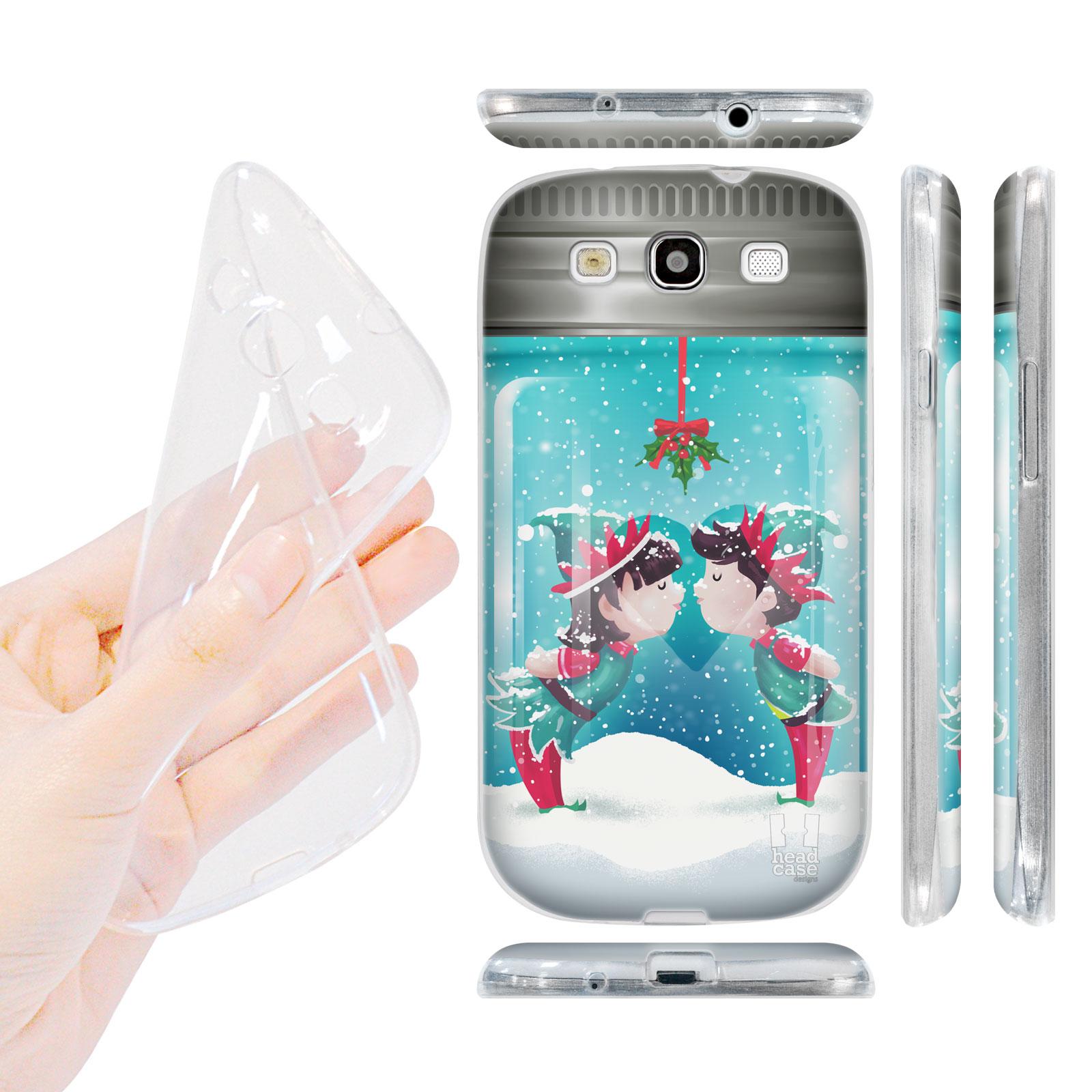 HEAD CASE silikonový obal na mobil Galaxy S3 i9300 Vánoce skleněná koule jmelí