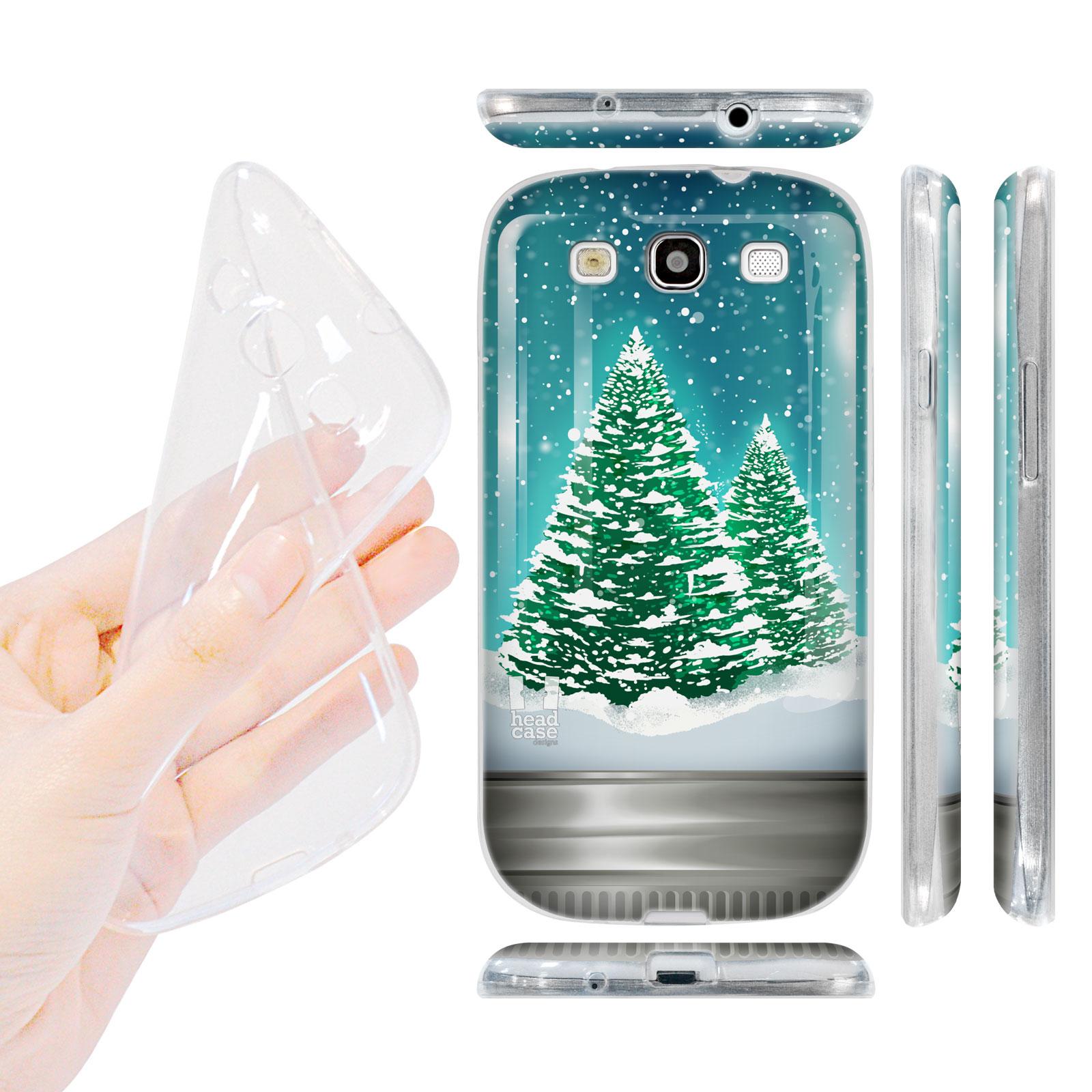 HEAD CASE silikonový obal na mobil Galaxy S3 i9300 Vánoce skleněná koule stromeček zelená