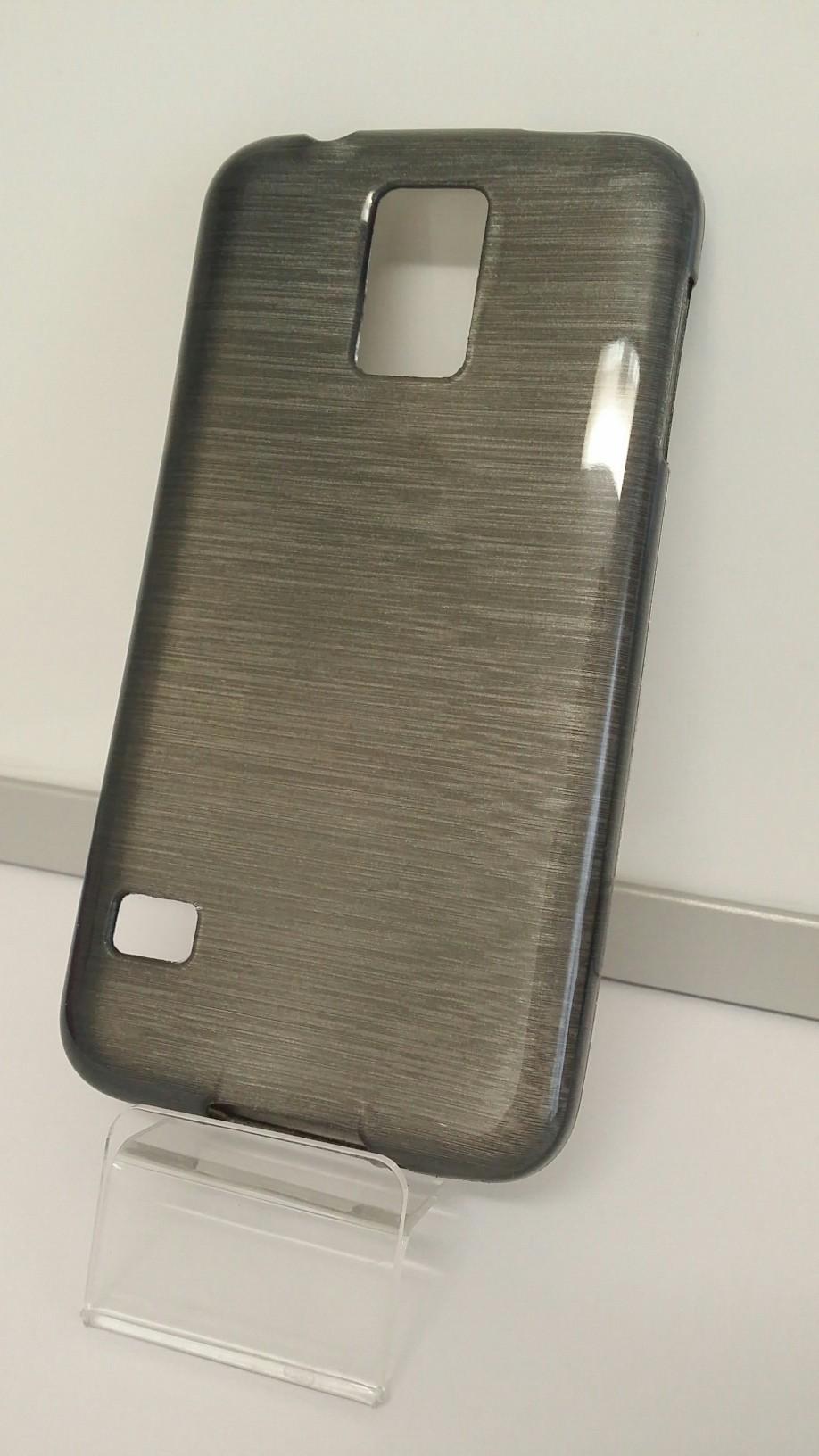 Jelly Case silikonový obal na mobil Samsung Galaxy S5 černý odstín metal