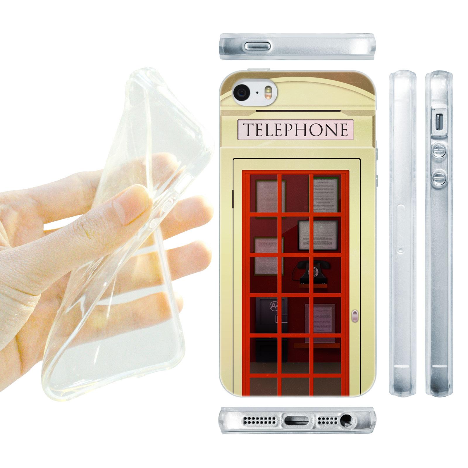 HEAD CASE silikonový obal na mobil Iphone 5/5S telefonní budka béžová barva