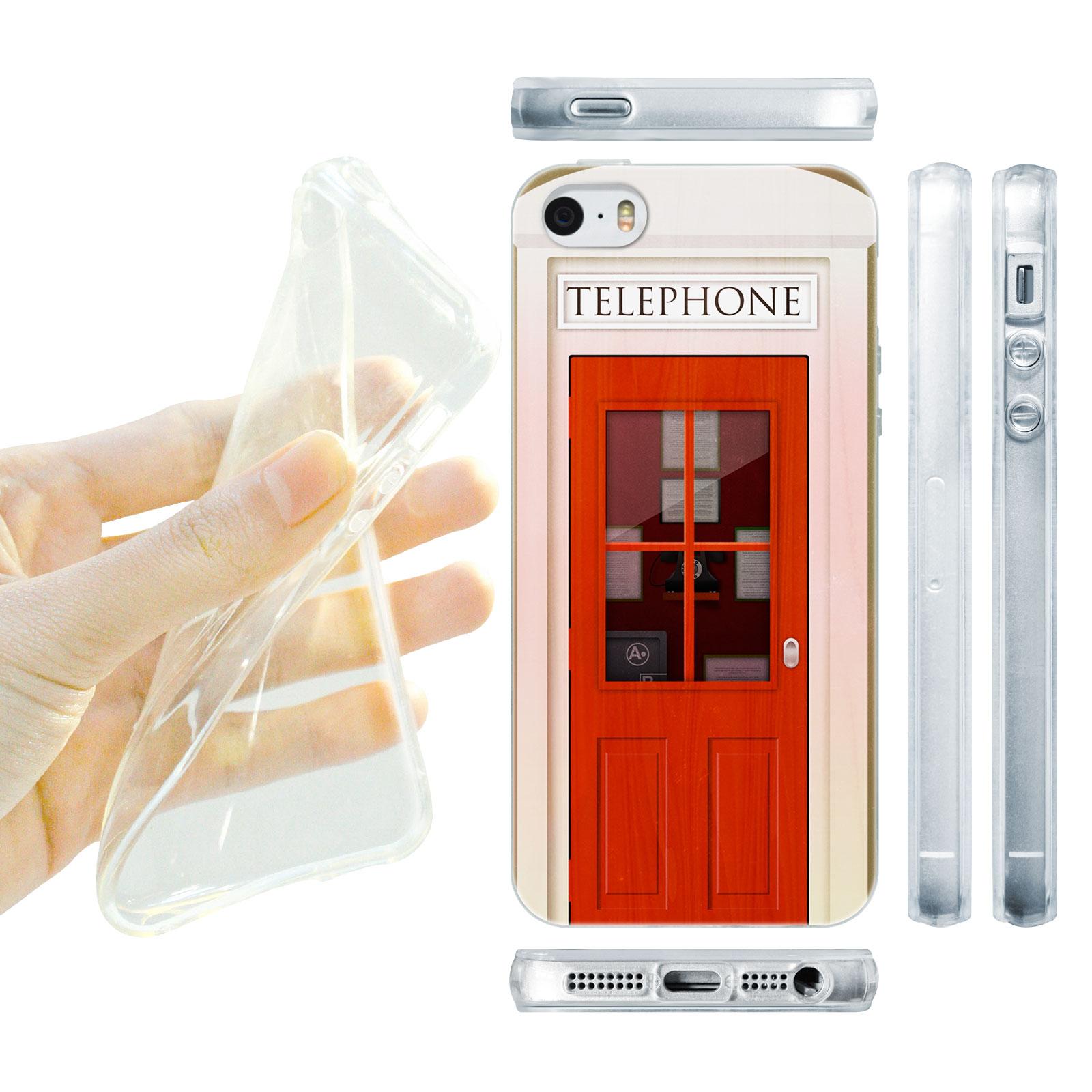 HEAD CASE silikonový obal na mobil Iphone 5/5S telefonní budka růžová barva