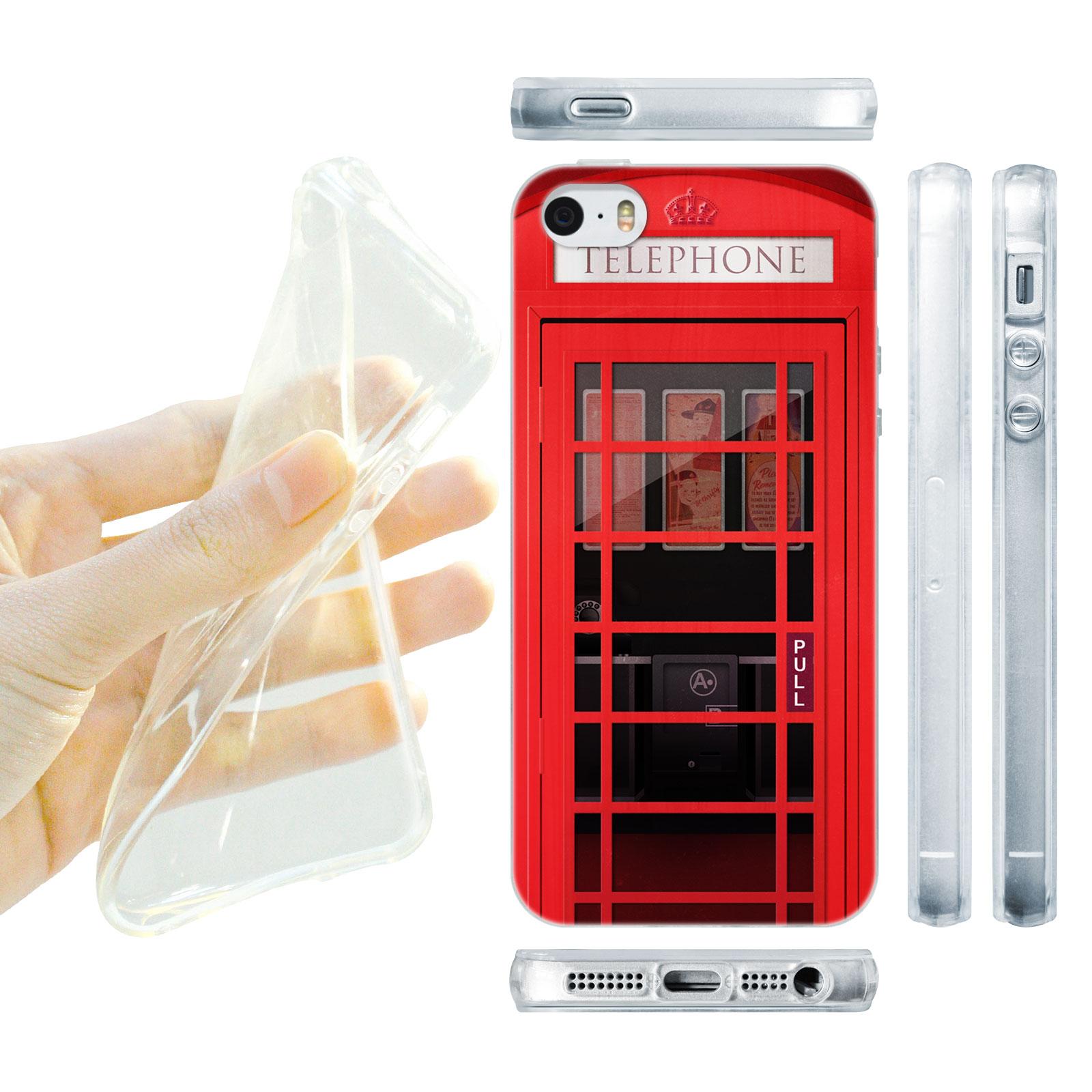 HEAD CASE silikonový obal na mobil Iphone 5/5S telefonní budka červená barva