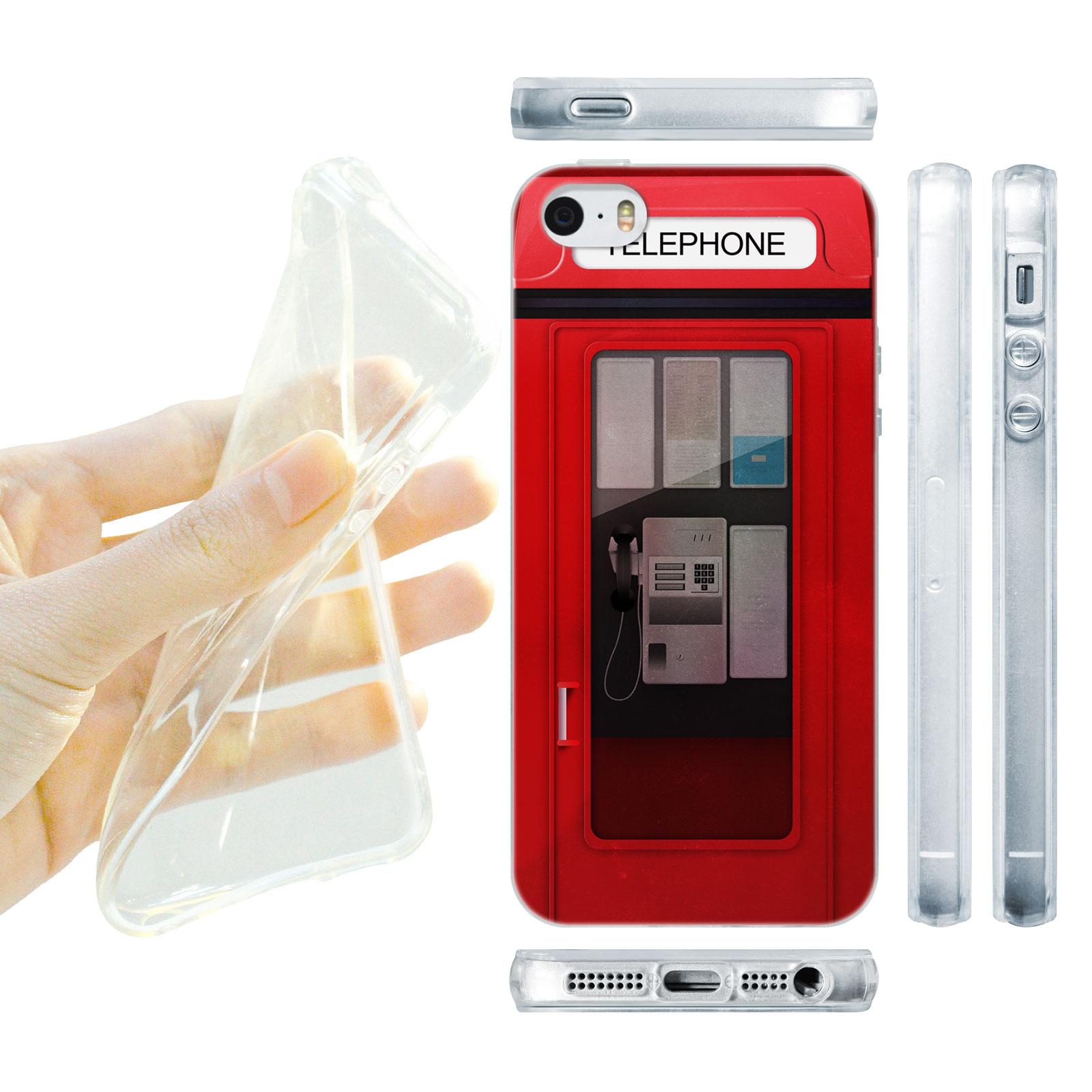 HEAD CASE silikonový obal na mobil Iphone 5/5S telefonní budka červená barva 2