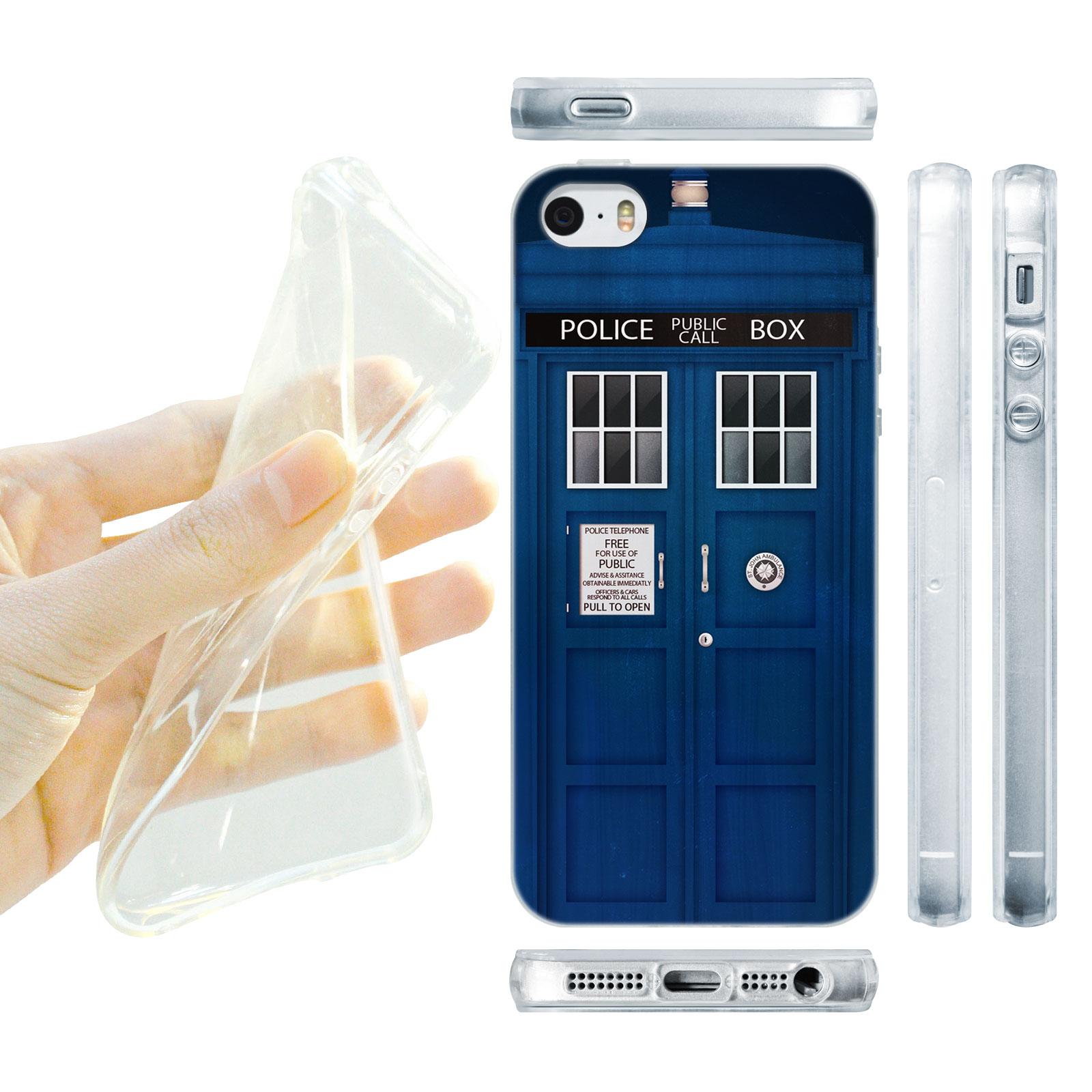 HEAD CASE silikonový obal na mobil Iphone 5/5S telefonní budka modrá barva