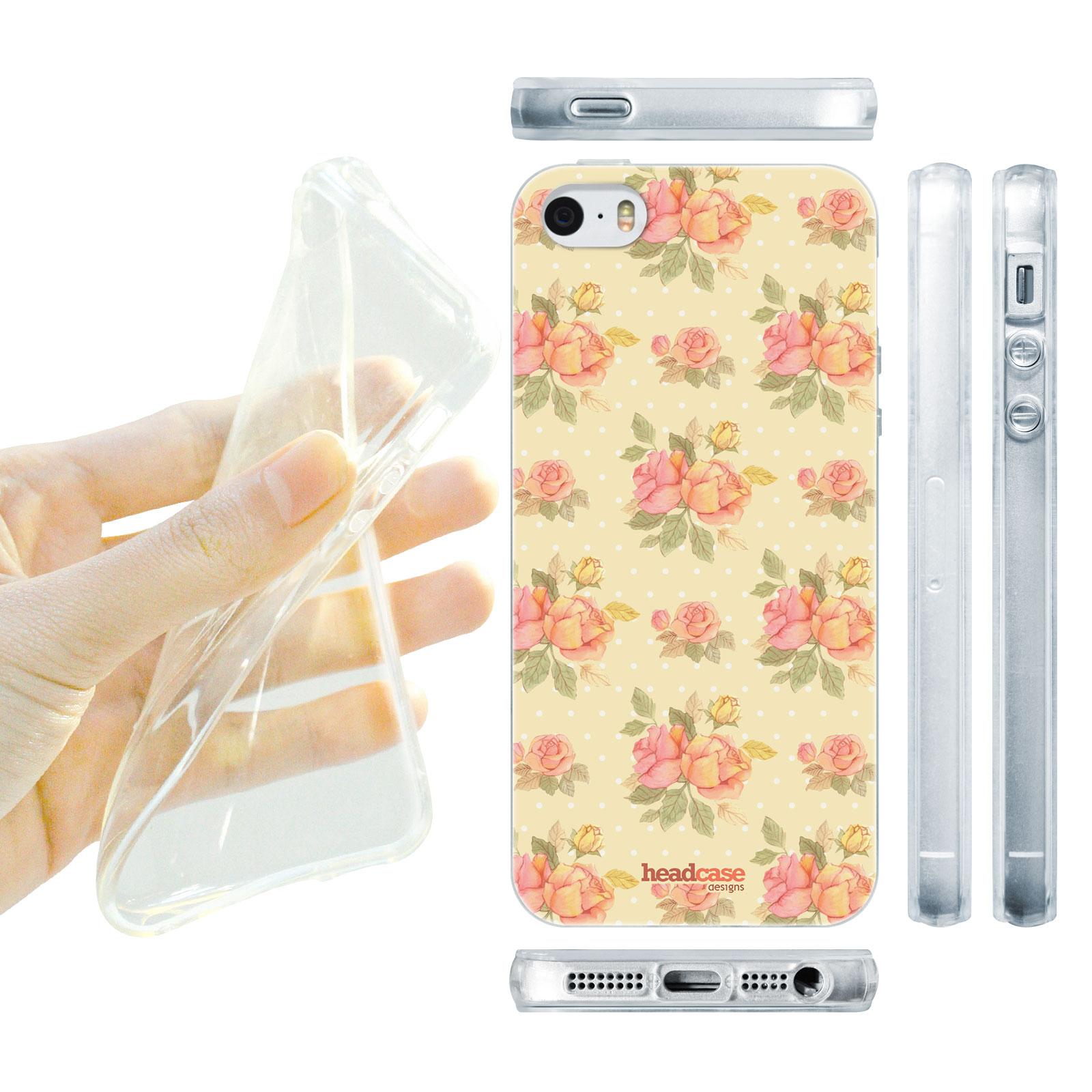 HEAD CASE silikonový obal na mobil Iphone 5/5S květinový motiv anglické růže