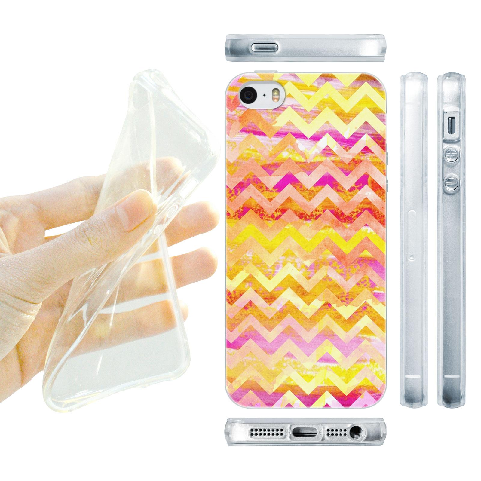 HEAD CASE silikonový obal na mobil Iphone 5/5S proužky žlutá barva